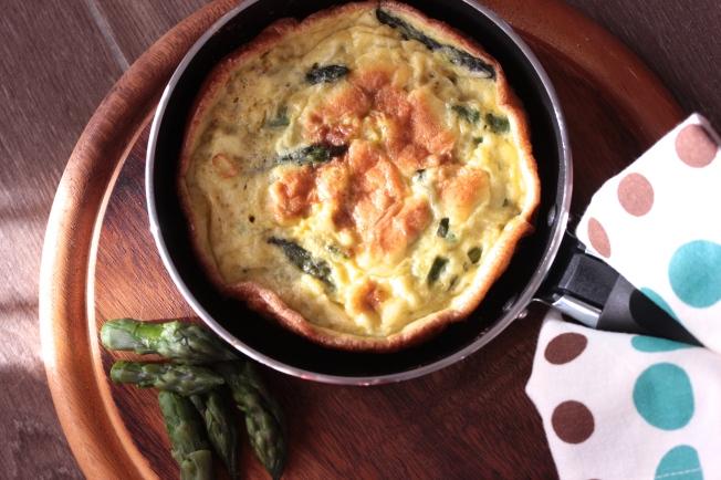 Asparagus & Parmesan cheese Frittata