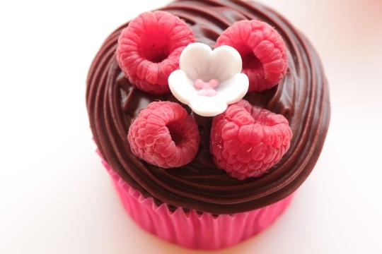Vanilla Chocolate Raspberry Cucpakes